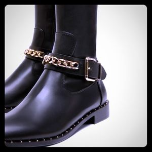 Zara over the knee vegan leather 2018 boots